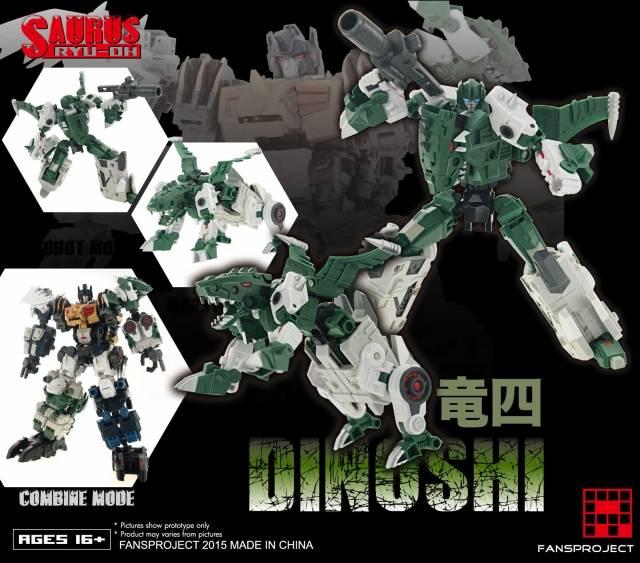 Fansproject - Saurus Ryu-Oh - Dinoshi
