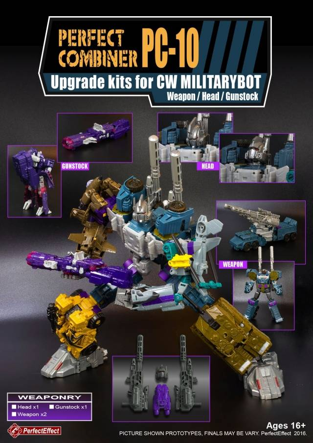 PC-10 Perfect Combiner Upgrade Set - Bruticus & Shockwave