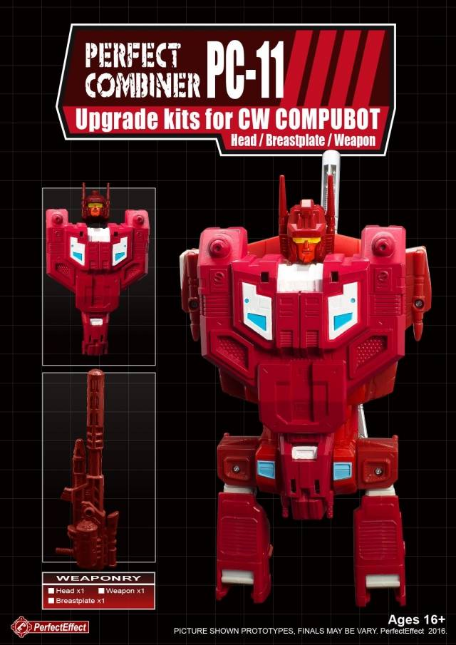 PC-11 Perfect Combiner Upgrade Set Computron Part 1