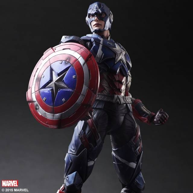 Marvel Universe Variant Play Arts Kai Figure - Captain America