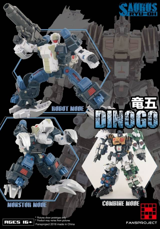 Fansproject - Saurus Ryu-Oh - Dinogo