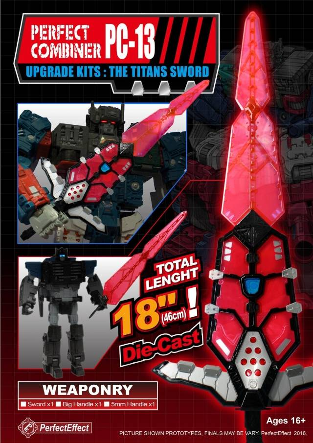 PC-13 Perfect Combiner Upgrade Kit for Titans Return Fortress Maximus