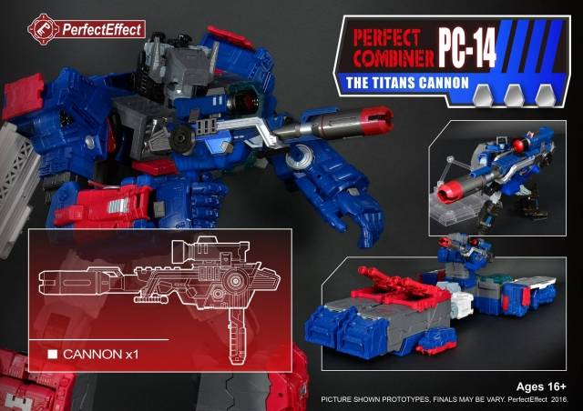 PC-14 Perfect Combiner Upgrade Cannon for Titans Return Fortress Maximus