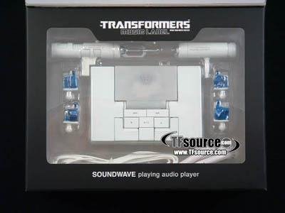 Music Label MP3 Player Soundwave - Sonic White Version