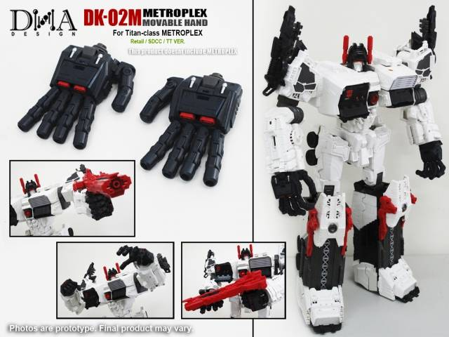 DNA Design - DK-02M - Metroplex Movable Hand Kit