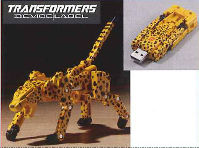 Device Label Transforming USB Flash Memory (2 GB) - Cheetor / Cheeta