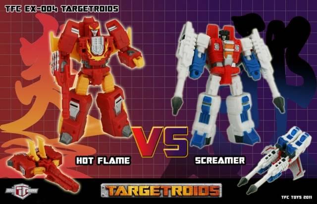TFC EX-004 - Targetroids - Hot Flame vs. Screamer - MIB