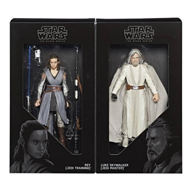 Star Wars Black Series - Luke Skywalker (Jedi Master) & Rey (Jedi Training) - SDCC 2017 Exclusive