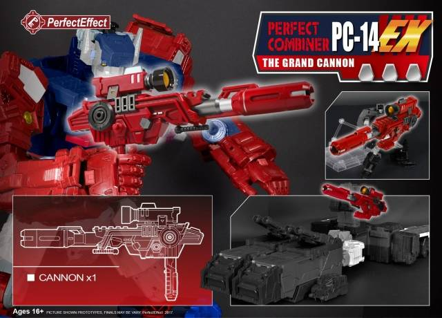 PC-14EX Perfect Combiner Upgrade - the Grand Cannon for LG Grand Maximus