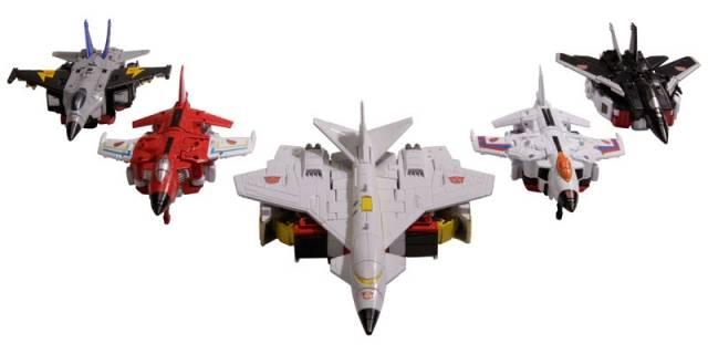 Transformers Unite Warriors - UW-01 - Superion Set of 5 - Loose 100% Complete