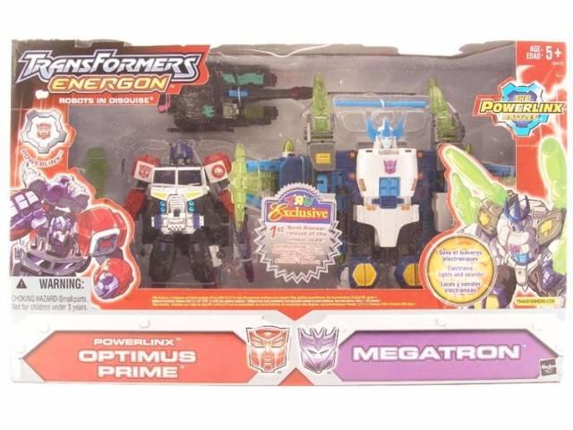 Energon - Toys R US exclusive - Powerlinx Optimus Prime versus Megatron - MIB