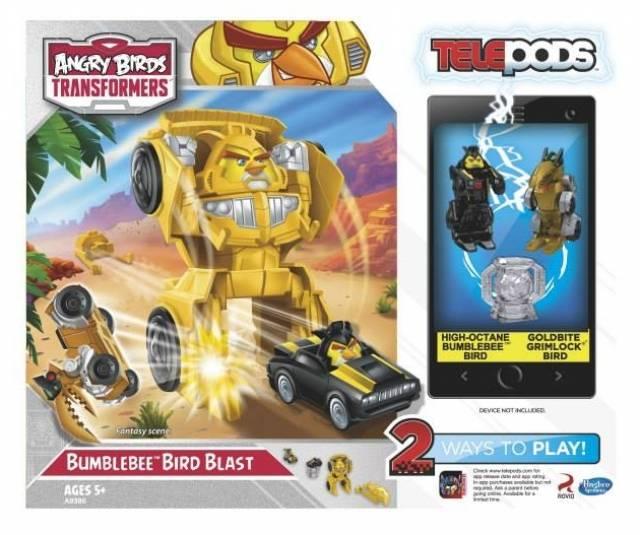 Angry Birds Transformers Telepods - Bumblebee Bird Blast Launcher Playset