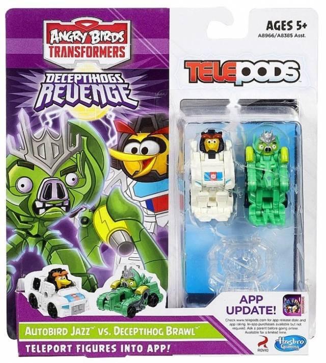 Angry Birds Transformers Telepods - Autobird Jazz vs. Deceptihog Brawl Pig