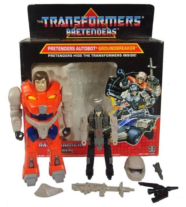 Transformers G1 - Pretender Groundbreaker - MIB