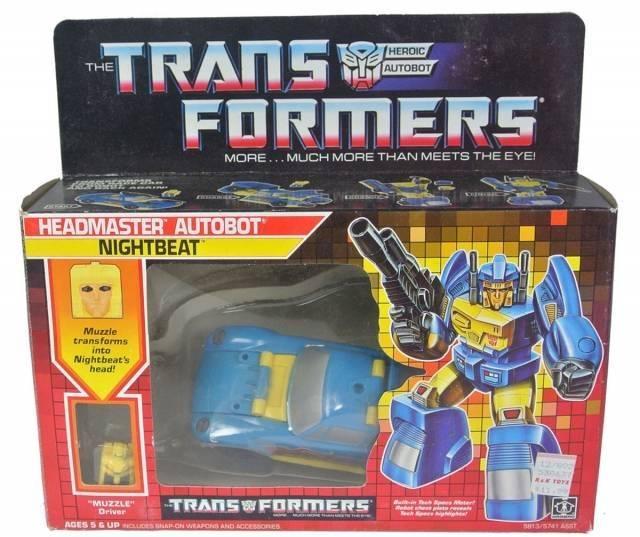 Transformers G1 - Headmaster Nightbeat - MIB