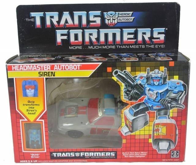 Transformers G1 - Headmaster - Siren - MIB
