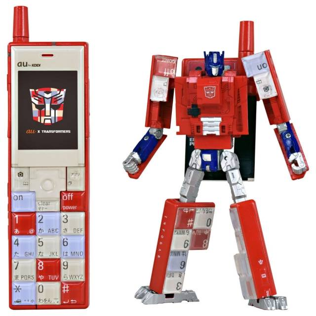 au x Transformers Project Infobar Optimus Prime