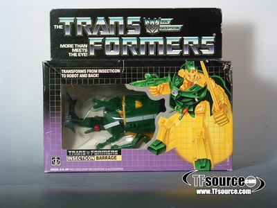Transformers G1 Boxed - Barrage - MIB