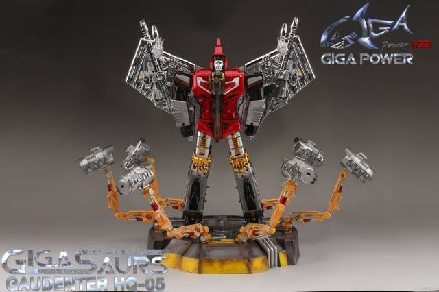 GigaPower - Gigasaurs - HQ-05R Gaudenter - Red - Chrome Version