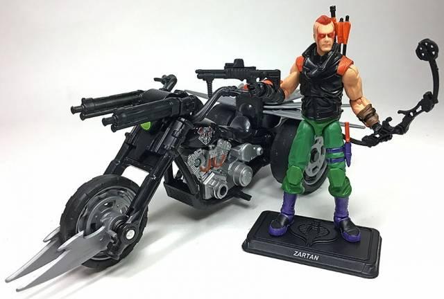 G.I. Joe Ninja Force Zartan with Cold Slither Cycle G.I. Joe Club 2018 Exclusive