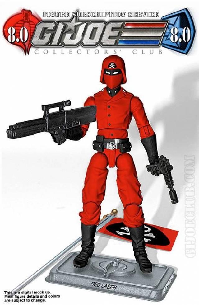 G.I. JOE - Subscription Figure 8.0 Red Laser