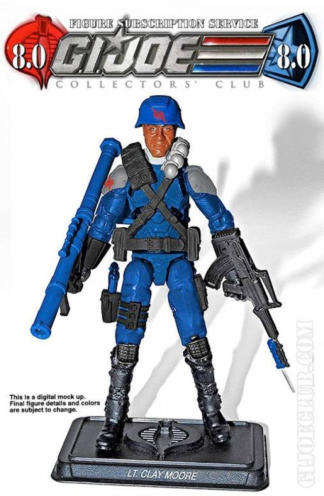 G.I. JOE - Subscription Figure 8.0 Lt. Clay Moore