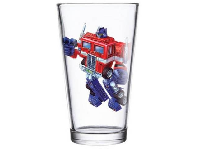 Transformers Optimus Prime Pint Glass