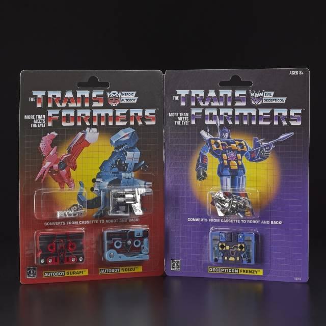 Transformers Vintage G1 Mini-Cassettes 3-Pack Gurafi, Noizu, Decepticon Frenzy