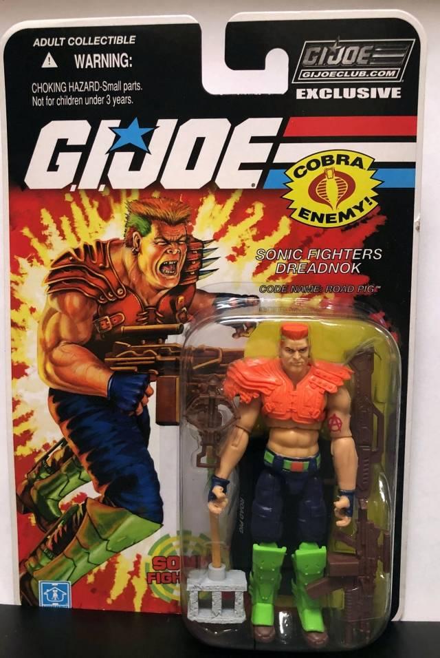 GI Joe Collector Club FINAL 12 Cobra SONIC FIGHTERS Dreadnok ROAD PIG