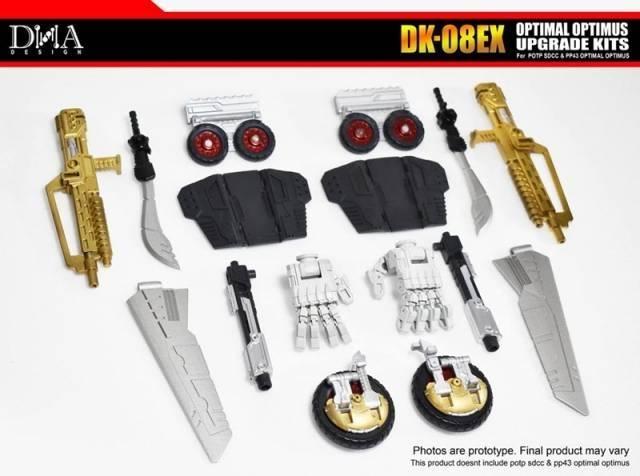 DNA Design DK-08EX Upgrade Kit for POTP Throne of the Primes Optimal Optimus - MIB