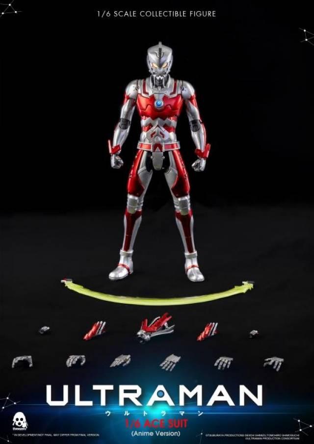 1//6 threeA 3A threezero 3Z0129 Ultraman Suit Anime Ver Collectible Action Figure