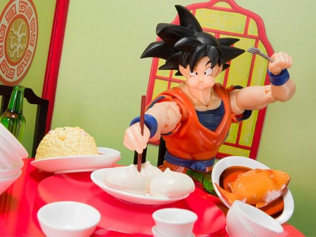 Goku Eating Scene Set S H Figuarts Bandai Tamashii Nations Dragon Ball