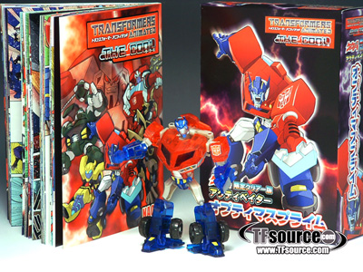 Japanese Transformers Animated - Activators - Exclusive Clear Optimus Prime