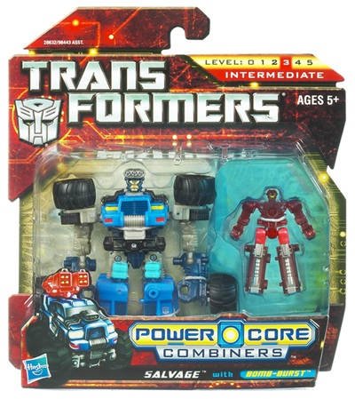 Transformers 2011 - Power Core Combiner 2-Pack - Salvage w/ Bombburst