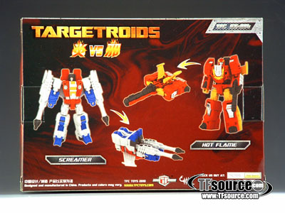 TFC EX-004 - Targetroids - Hot Flame vs. Screamer