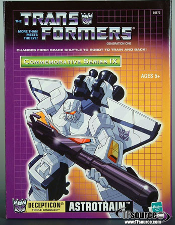 Transformers Reissue G1 Astrotrain   Commemorative Series