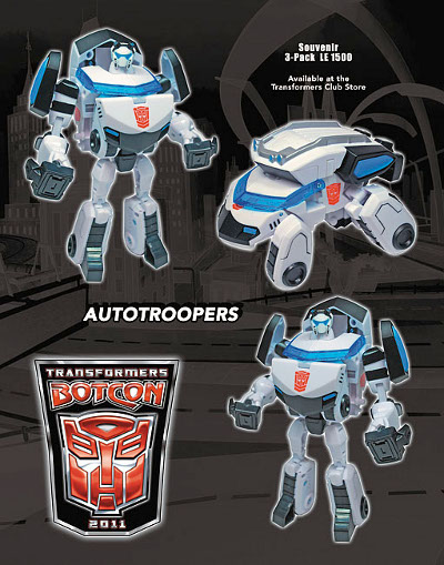 Botcon 2011 - Souvenir Exclusive Set - Autoroopers Set of 3