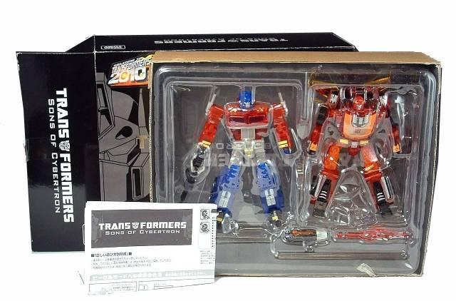 Henkei Classics - Sons of Cybertron - Optimus Prime & Rodimus - Clear Set - MIB - 100% Complete