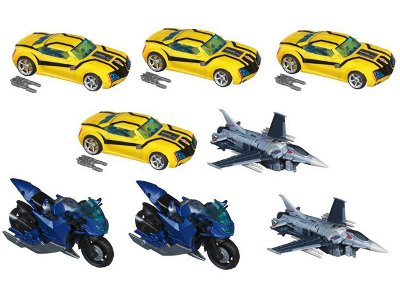 Transformers Prime Deluxe Series 01 - Case of 8 Figures - First Edition