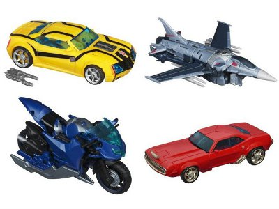 Transformers Prime Deluxe Series 01.5 - Set of 4 Figures - First Edition