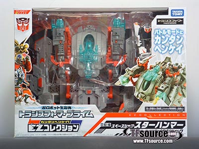 Japanese Transformers Prime - EZ-10 - Wheeljack with Spaceship