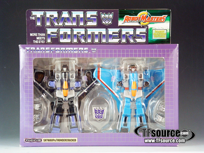 Robot Masters - Thundercracker and Skywarp