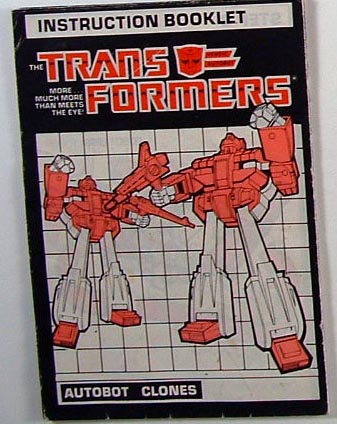 Instruction Manual - Clones Autobot - Grade B