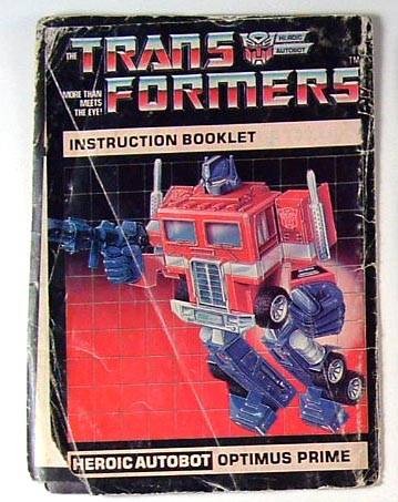 Instruction Manual - Optimus Prime - Grade C