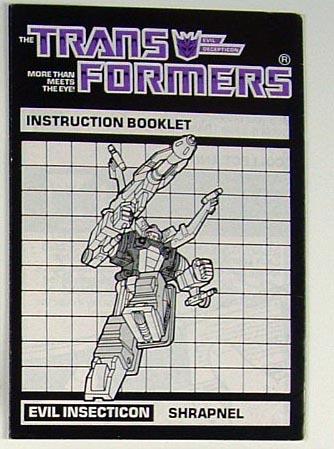 Instruction Manual - Shrapnel - Grade B