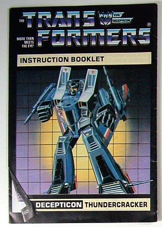 Instruction Manual - Thundercracker - Grade A