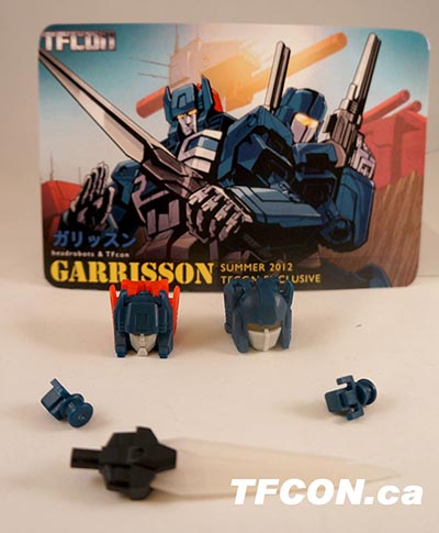 TFcon 2012 Exclusive - Headrobots - Garrison Head Piece - MOSC
