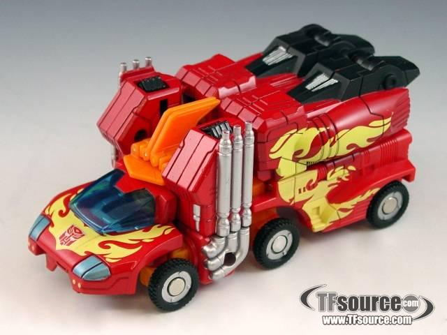 Titanium - 6-inch Cybertron Heroes - Rodimus Prime - Loose - Missing gun