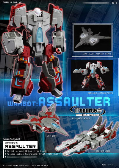 Warbot - WB003 - Assaulter - by Fansproject