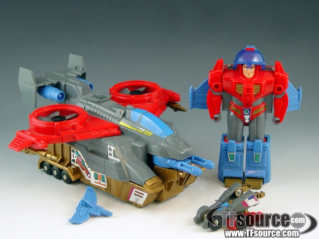 Transformers G1  - Skyhammer - Loose - Piece broken off inside jet
